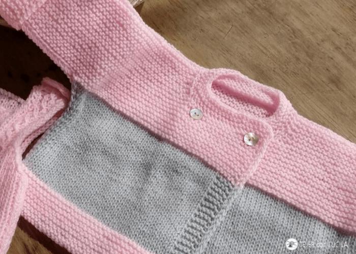 punto viborita de tejer ropa bebe