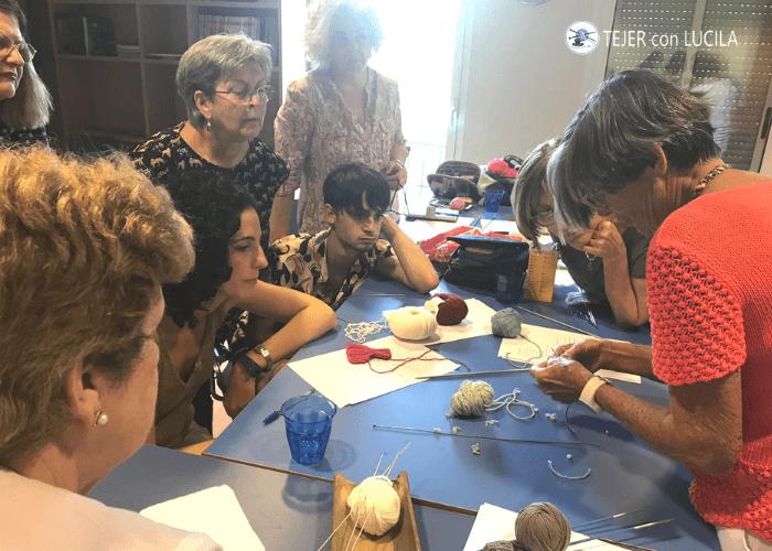 taller clase presencial tejer con lucila en madrid