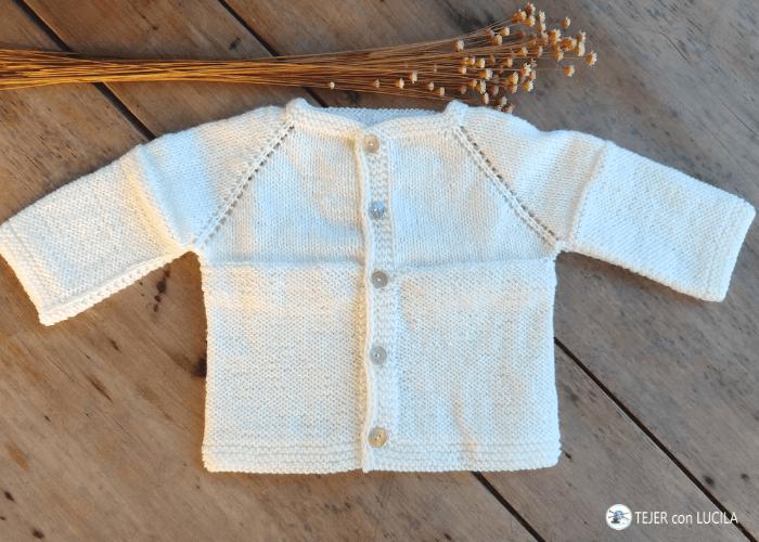 tejer batita chaqueta bebe