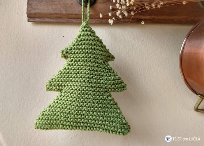 arbolito navidad tejido