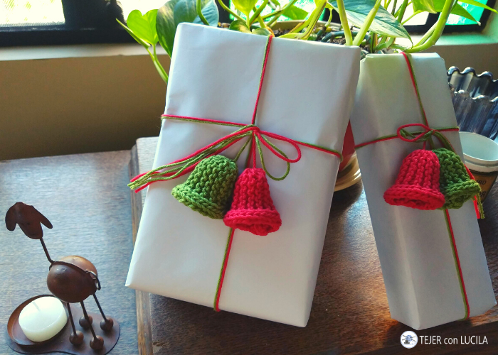 campanitas navidad tejidas regalos