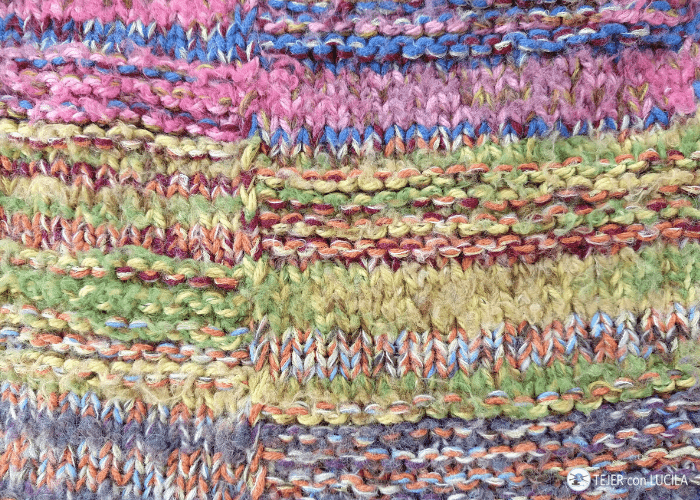 poncho manta tejer punto costura