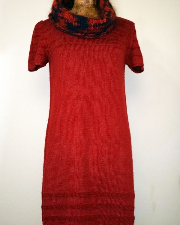 vestido corto rojo