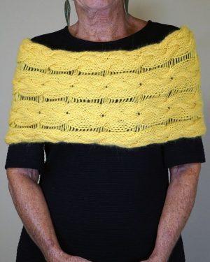 cuello trenzas colores