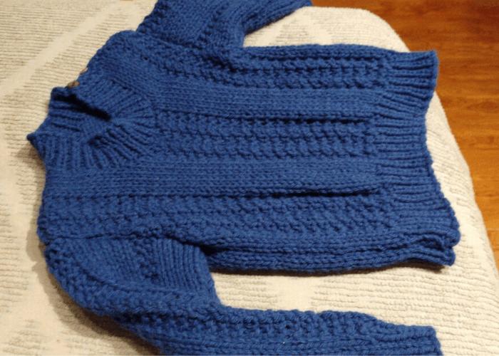 tejedora claudia sueter azul