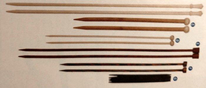 historia tejido de punto agujas