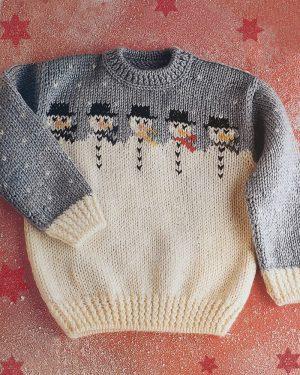 patron jersey navidad muñeco nieve