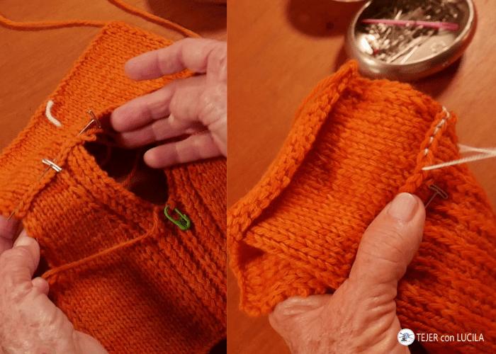 coser hombro cadeneta con cadeneta