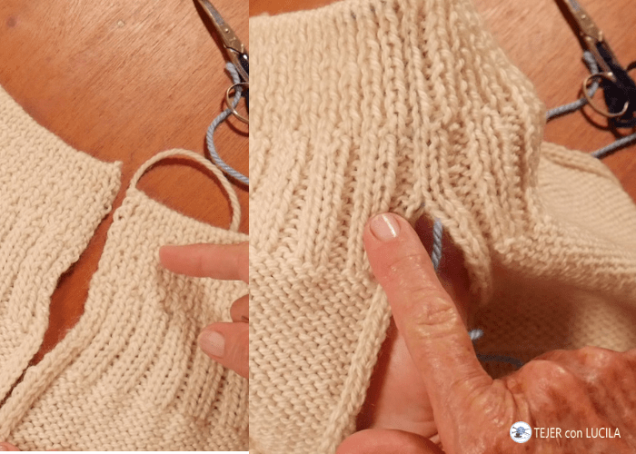 como coser un jersey