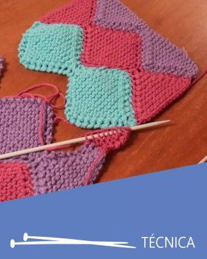 como tejer uniendo coser