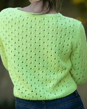 Patron punto mujer sweater jersey plumeti